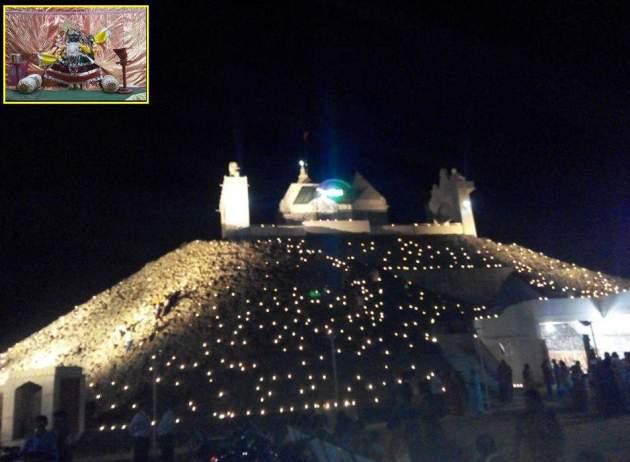 ગિરિરાજધામ ખાતે દેવ દિવાળી નિમિત્તે ભવ્ય દિપમાળા